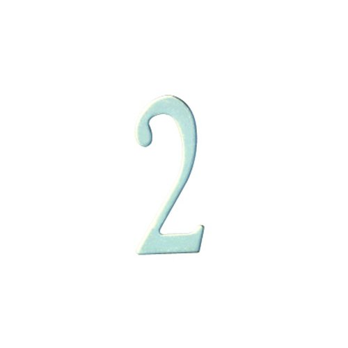 Special Lite Products SS2-Number 2 Stainless Steel Self Adhesive Address Number 2 2, 2''