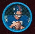 1962 salada tea coins (Football) Card# 119 Y.A. Tittle of the New York Giants NrMt Condition