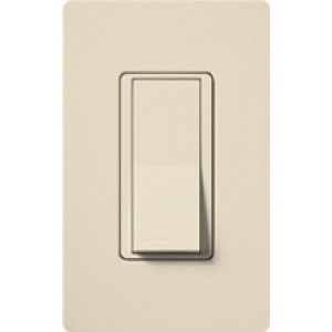 - Lutron CA-3PSNL-LA Light Switch 120V Claro Switch with Locator Light 3-Way - Light Almond-2PK