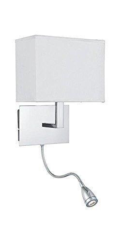 Onepre bedside wall lightpolished chrome wall lamp with flexible onepre bedside wall lightpolished chrome wall lamp with flexible led reading light white aloadofball Choice Image