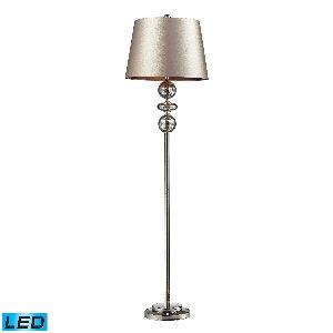 - Dimond Lighting Hollis Floor Lamp, Polished Nickel