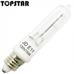 (2 Pack) TopStar Halogen JD 75 Watt 120 Volt E11 Base Single Ended Replacement Lamp ()