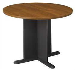 (Bush Business Series A/C 42 Inch Round Conference Table in Warm Oak)