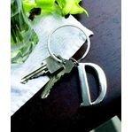 Buy ganz large initial key ring v