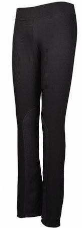 TuffRider Women's Ribbed Boot Cut Tights Breech, Black, 28