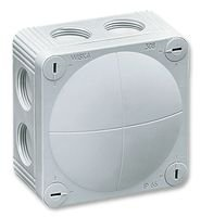 WISKA COMBI 308/5/W Enclosure, IP66, Junction Box, 51 mm, 85 mm, 85 mm, PP (Polypropylene), White (10 pieces)