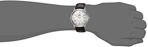 Orient Men's '2nd Gen. Bambino Ver. 2' Japanese Automatic Stainless Steel and Leather Dress Watch, Color:Brown (Model: FAC00008W0) by Orient (Image #1)