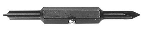 Replacement Bits for 4-in-1 and 5-in-1 Screwdrivers (Cat. Nos. 32460 and 32476), #1 Phillips and 3/16-Inch Slotted Klein Tools 32478