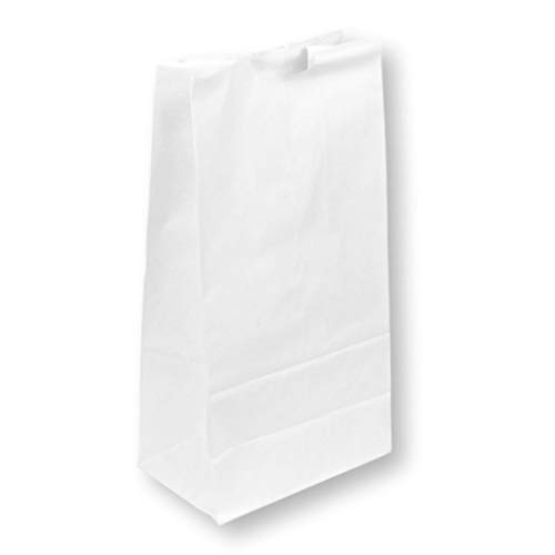 [150 Pack] Heavy Duty White Paper Bags 13 x 7 x 4.5