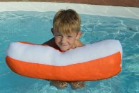Aqua Cloud Mini Floating Pillow (Orange) (Floating Mini)