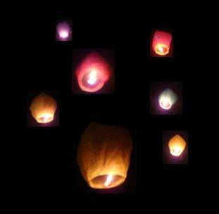 Just Artifacts Diamond Pink Flying Sky (Floating) Lantern/Kongming Light - Just Artifacts Brand