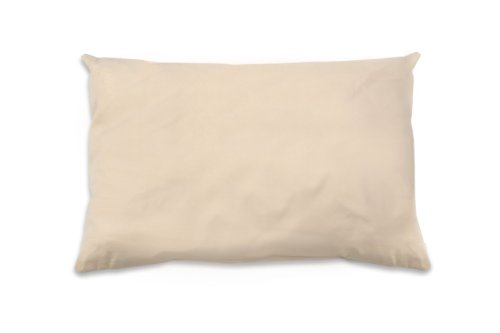 NaturePedic Organic Cotton Pillow with PLA Fiber Filling,...