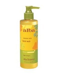 Alba Botanica Hawaiian Coconut Milk Face Wash, 8 Ounce -- 3 per case.
