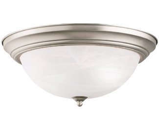 Kichler 8110NI Flush Mount 3-Light, Brushed Nickel