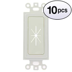 GOWOS (10 Pack) Decor Insert with Flexible Opening White ()
