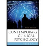 Contemporary Clinical Psychology (3rd, 11) by [Hardcover (2010)] pdf