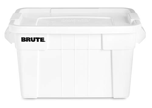 Rubbermaid Commercial Products Brute Tote Storage Container with Lid, 20-Gallon, White (FG9S3100WHT) (Pack of 6) by Rubbermaid Commercial Products (Image #2)