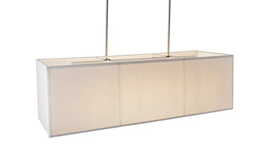 Rectangular Pendant Light With Shade in US - 2