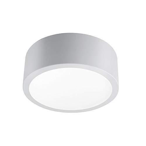 Globe Electric Edinburg LED Integrated Flush Mount Ceiling Light, Matte Gray, Frosted Glass Shade, 18W, 3000 Kelvin, 1100 Lumens, Dimmable 13095
