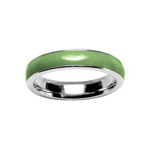 1001 Bijoux - Bague acier anneau lisse vert