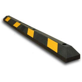 Parking Lot Wheel Stop - 72'' L - Black w/Yellow Stripes (VR-2Y)