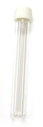 Eisco Labs Borosilicate Test Tube with Screw Cap - Culture Tubes - 7.5mL (13x100mm), Pack of 24