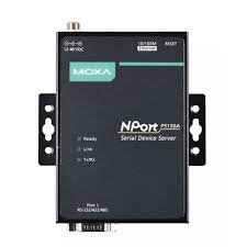 MOXA NPort P5150A - 1 Port RS-232/422/485 PoE Serial Device Server, 10/100M Ethernet, DB9 Male, 0-60C, 1KV Serial Surge Protection by Moxa