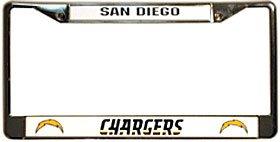 NFL San Diego Chargers Bolt Logo Chrome Licensed Plate (San Diego Chargers Bolt)