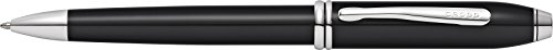Lacquer Finish Ballpoint Pen - Cross Townsend Black Lacquer Ballpoint Pen with Rhodium Plated Appointments (AT0042TW-4)