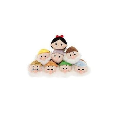 Tsum Tsum Mini Plush 8pc Set: Snow White and the Seven Dwarfs 3.5: Toys & Games