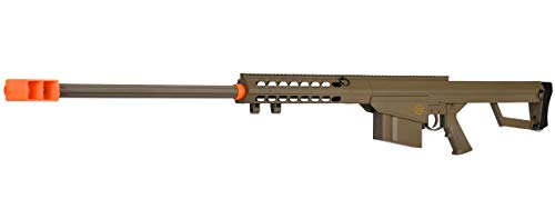 Lancer Tactical M82 50 Cal Spring Airsoft Sniper Rifle Gun Marksman FPS 435 (Tan) (Best 50 Caliber Sniper Rifle)