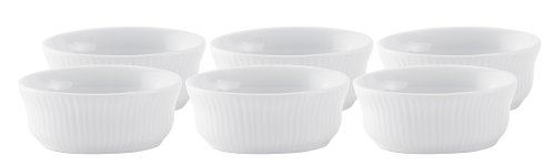 HIC-3-ounce-Porcelain-Oval-Ramekin-35-by-25-inch-Set-of-6
