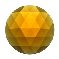 Stained Glass Jewels - 20mm Round Faceted - Lt Amber