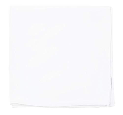 - The Tie Bar 100% White Cotton Pocket Square