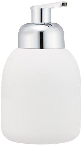 WENKO 20089100 Schaumspender Bottle White - Soft-Touch Beschichtung, Fassungsvermögen 0.4 L, Soft-Touch Keramik, 8.5 x 16 x 8.5 cm, Weiß