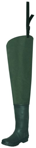Pro Line Twin River Cleated 2 - Ply Nylon Hip Waders Dark Green, DK GRN, 10M
