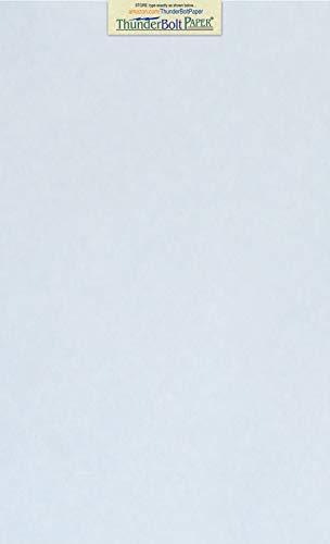 (50 Light Blue Parchment 60# Text (=24# Bond) Paper Sheets - 8.5