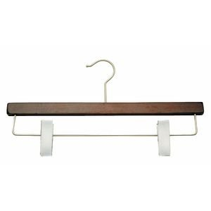 Mahogany Pant Hanger 14'' Case of 100 by Retail Resource
