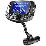"ZEEPORTE Bluetooth FM Transmitter for Car, 1.8"" Color Screen Wireless Bluetooth FM Radio Adapter QC3.0 Qucik Charger with EQ Mode, 3 USB Ports, 4 Music Playing, Hands-Free Calls, TF Card, AUX Output -"