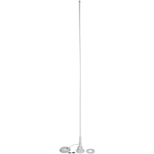 TRAM(R) 1611 5 Ft VHF 3dbd Gain Marine Antenna with Lift & Lay-Over Mount, Silver ()