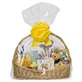 25 Clear Cellophane Bags 24'' x 30'' Extra Large Jumbo Round Cello Gift Basket Bags