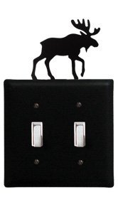 ESS-19 Moose Double Switch Electric Cover by Village Wrought Iron