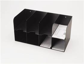 4 On 4 Double-Tier Check Separator - 8 Pocket Black (Separator Mmf Check)