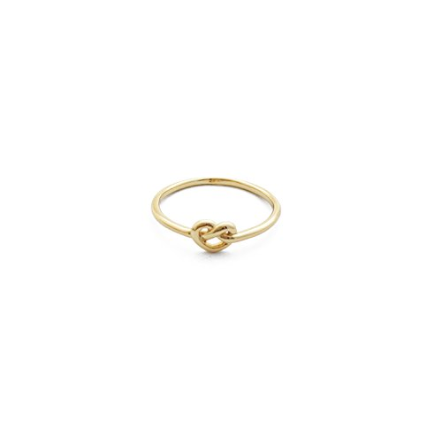 HONEYCAT 24k Gold Plated Love Knot Ring | Madewell, Minimalist, Delicate Jewelry, Celebrity Style