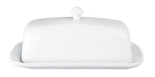 BIA Cordon Bleu White Ceramic Butter Dish with Knob (Large Image)