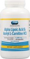 Vitacost Альфа-липоевая кислота и ацетил L-карнитин HCl - 1600 мг на порцию - 240 Капсулы