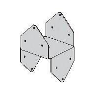 Tz Post Cap 6x6in 1-Piece Stl -