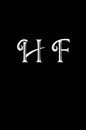 H F: Double Monogram Journal, 100 Pages, 6x9 Inches, Black Glossy Cover