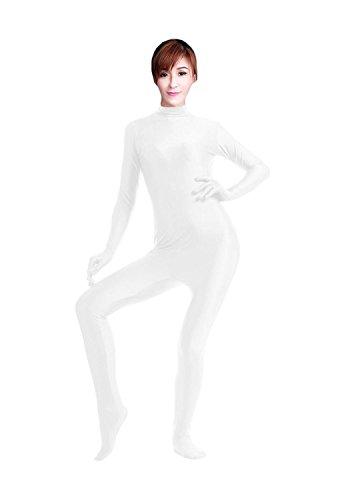 WOLF UNITARD Lycra Spandex Bodysuit Dancewear Small White (Circus Dance Costumes)