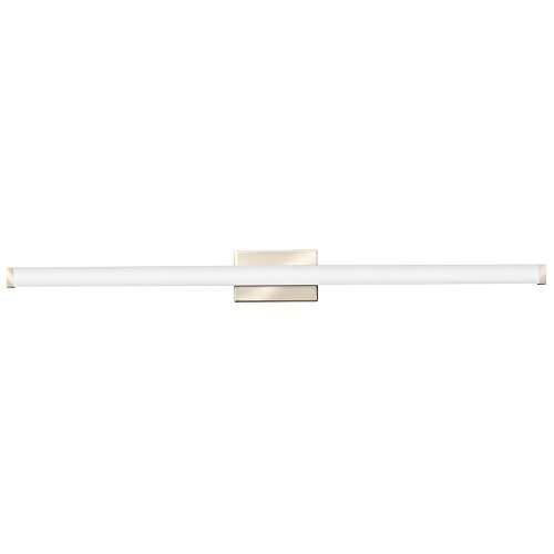 Lithonia Lighting Contemporary Square 3K LED Vanity Light, 4-Foot, Brushed Nickel Square Bathroom Vanity Light
